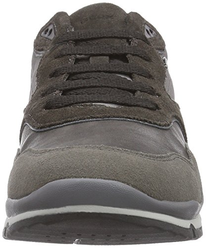 Geox U Sandford A, Baskets Basses Homme Gris - Grau (C9297GREY/MUD)