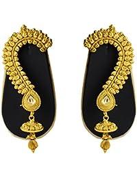 Sadnya Exclusive Gold Finish Brass Ear Cuffs Earrings For Women - DLEC04