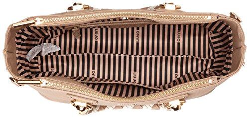 Liu Jo Damen M 2 Zip Satchel Manhattan Tornistertasche, 14x24x34 cm Mehrfarbig (Arenaria/Soia)