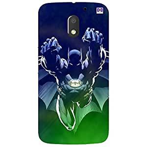Blue Batman - Mobile Back Case Cover For Motorola Moto E3 (3Rd Gen) 2016
