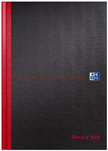 Cuaderno liso Negro y rojo