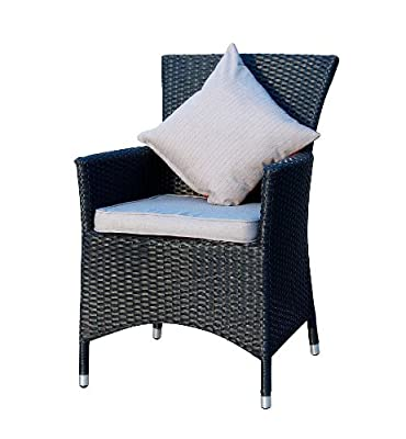 Ambientehome Polyrattan Sessel Stuhl Nairobi, schwarz