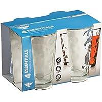 Ravenhead Essentials Cirque Set di 4Pressed Hiball Bicchieri 30cl,
