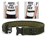 YAHILL Seguridad Cinturón Táctico Seguro de Combate, Equipo de Utilidad, Equipo Militar por Carga Pesada & Policía al Aire Libre (Ejército Verde-Promovido)