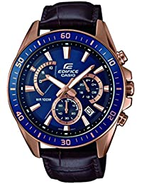 Casio Edifice Herrenuhr Analog Quarz mit Echtlederarmband – EFR-552GL-2AVUEF