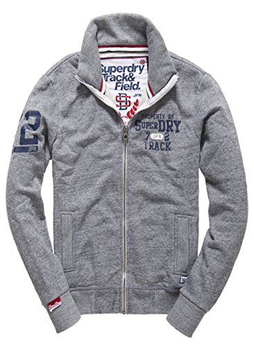 SUPERDRY Trackster Track, Top Uomo, Pearl Blue Grindlevfp, M