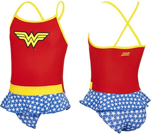 OSG Zoggs Wonder Woman Childrens Swimming Swim Dress Costume UK