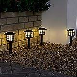 Inserire la lampada a LED piccola palazzo lampada solare piccola casa lampada decorazione del cortile giardino lampada prato 2P A