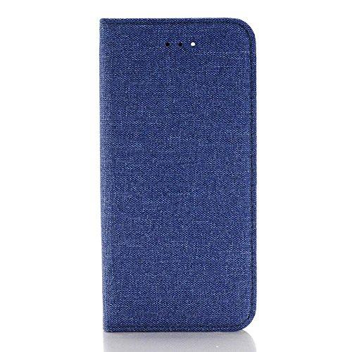 SDDM Cowboy Jeans PU-lederner Kasten-Mappen-Standplatz-Fall-weiche Silikon-Abdeckung für Appple iPhone 7 ( Color : 4 , Size : IPhone 7 ) (Outter Iphone 4 Fälle)