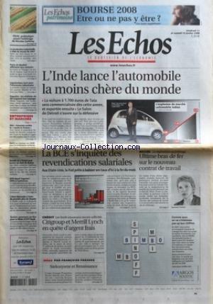 echos-les-no-20086-du-11-01-2008-linde-lance-lautomobile-la-moins-chere-du-monde-la-bce-sinquiete-de