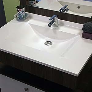 Plan simple vasque centrée ANDERNOS - 80 cm