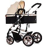 Cochecito de Bebé Sistema de Viaje, Plegable Carrito de bebé Calesa con Cubierta de la lluvia, Cuatro ruedas Ajustables Basculador para Bebés con Rueda Trasera Antideslizante