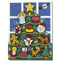 Melissa & Doug 13718 - Puzzle in Legno Massiccio, Albero di Natale, Multicolore