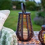 Lights4fun Set of 2 Rattan Solar Powered LED Outdoor Garden Lanterns 9