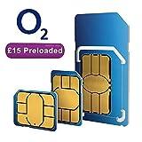 O2 dual/triple payg sim card (standard, micro & nano)