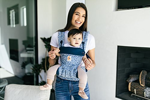 Ergobaby Baby Carrier 6 month plus 360 Limited Edition Batik Indigo, 4 Ergonomic Carry Positions, Front Facing Baby Carrier, Backpack