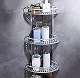 HHpcspc in Stile Europeo Triangolo in Lega di Alluminio Cesto da Basket Antico Multilayer Bagno d'angolo Rack Hanging Bagagli Mensola (Size : C)