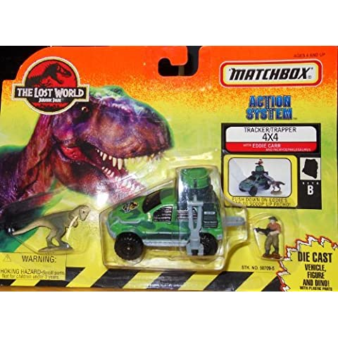 Matchbox the Lost World Jurassic Park Action System Tracker Trapper 4x4 with Eddie Carr and Pachycephalosaurus by Matchbox - Park System