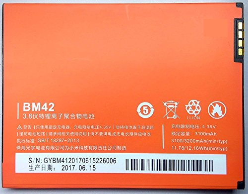 Generic Li-ion 3200mAh Battery for Xiaomi Redmi Mi Note, Note 4G (BM42)