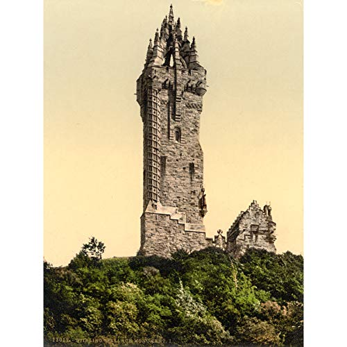 Wallace Monument Stirling Photomechrome Extra Large XL Wall Art Poster Print Wand Fotografieren Wand Poster drucken Wallace Master