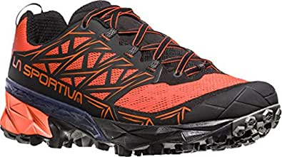 La Sportiva Men's Akyra Trail Running Shoes, Multi-Coloured (Tangerine/Black 000), 6 6.5 UK