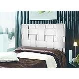 Cabecero de cama Tapizado en polipiel mod. Link 180x150 cm Blanco