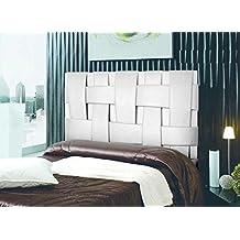 Cabecero de cama Tapizado en polipiel mod. Link 150x150 cm Blanco