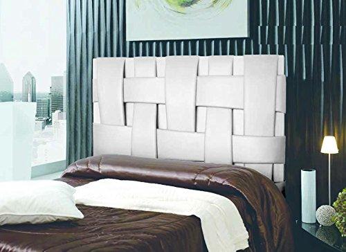 Cabecero de cama tapizado en polipiel mod. Link 135 x 150 Blanco