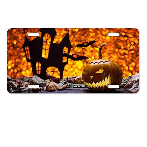 Warrantyll zucche di halloween pipistrelli novità occhielli in metallo targa 6da 30,5cm