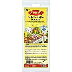 Trampas amarillas adhesivas FLY PLANTA de 25 cm X 10 contra las moscas y pulgones
