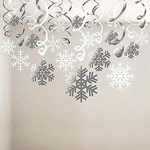 Schneeflocke Wirbelt Dekoration 30pcs Frohe Weihnachten