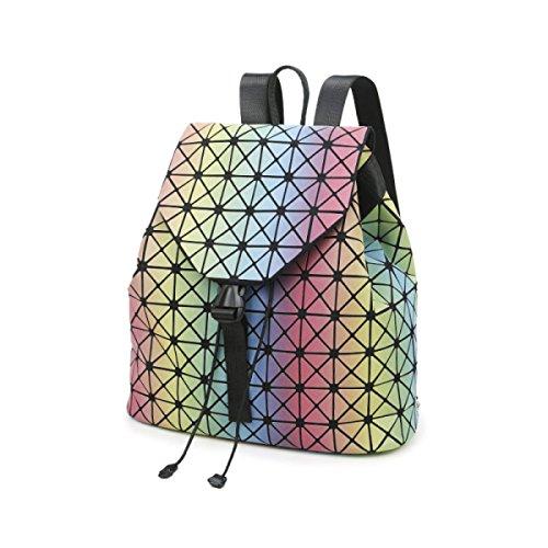 d363b0945e203 Frau Tasche Regenbogen Chaos Dreieck Rucksack Sommer Farbverlauf  Handtaschen Bunte Umhängetasche B