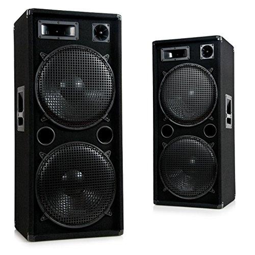 Ett 3000W PA DJ Party Disco Beschallung Lautsprecher Paar 3-Wege Boxen Pro 1500
