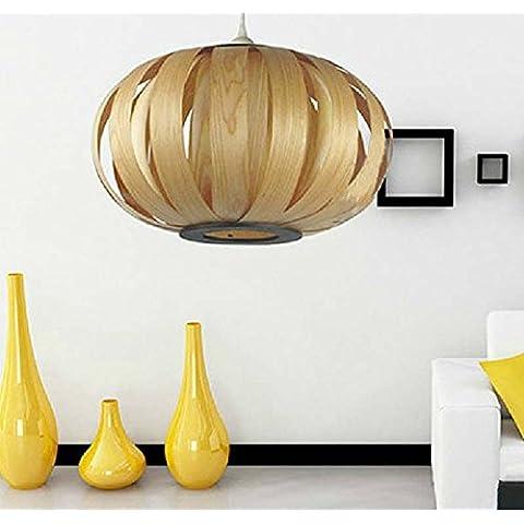 CHJK BRIHT Il sud-est asiatico di impiallacciatura cinese illumina Ciondolo home soggiorno studio bar negozi personalità creative minimalista lampade moderne
