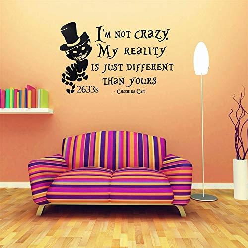 Wandtattoo Wohnzimmer Alice In Wonderland Zitate Wörter Aufkleber Hut Muster Kunst Wandaufkleber Kinder Schlafzimmer DIY Dekor Vinyl Wandbild