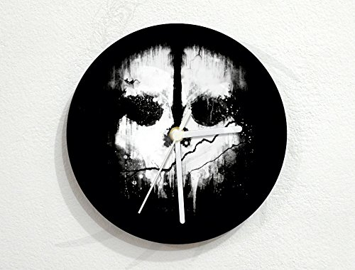 Death Skull - Mystery Horror Terror - Halloween Scare Gift - Custom Name Wall Clock (Skulls Mystery Halloween)