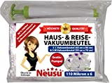 Neusu Hochwertige Haus- und Reise-Vakuumbeutel-Paket mit kostenloser Pumpe - 6er-Pack