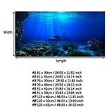 Acquario Sfondo HD Sottomarino Coral Reef Foto Carta da Parati Acquario Pesce Mare Murale XXL Sottomarino Underwater Mondo Decorazione della Parete(122 * 46cm)