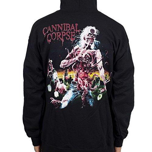 Ill Rock Merch Cannibal Corpse Eaten Back To Life Zip Hoodie Shirt - Nero - ...