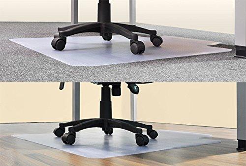 transparente Bodenschutzmatte 120 x 90 cm mit Lippe 45150