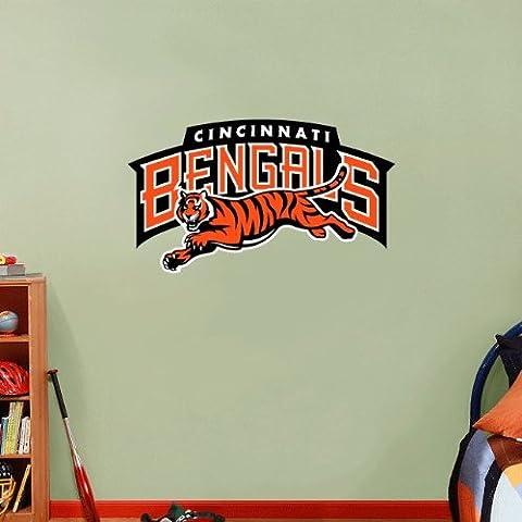 Cincinnati Bengals NFL fútbol pared vinilo adhesivo decoración del hogar 63x 35cm