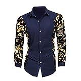 Domybest Hot pour Homme Mode Luxe décontracté Fin à élégante Robe à Manches Longues Chemises Top