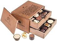 ChocoRoyal Midi - 20 exclusieve handgemaakte pralines | Geschenk in een houten kistje | Chocolade | Cadeau | Verjaardag | Vo
