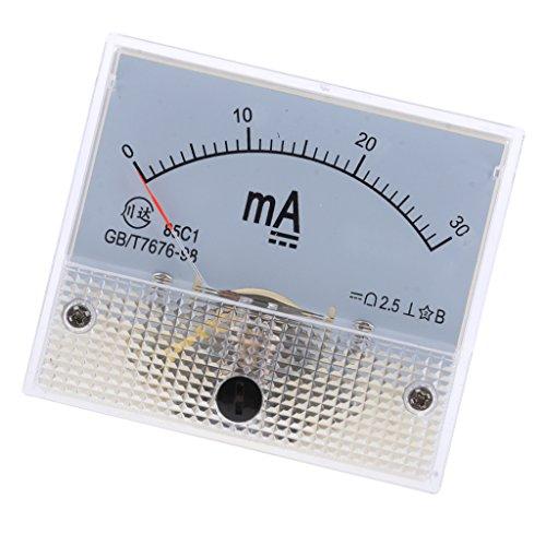 MagiDeal Analog Panel Meter DC AMP Amperemeter - 0-30mA Dc Amp Meter