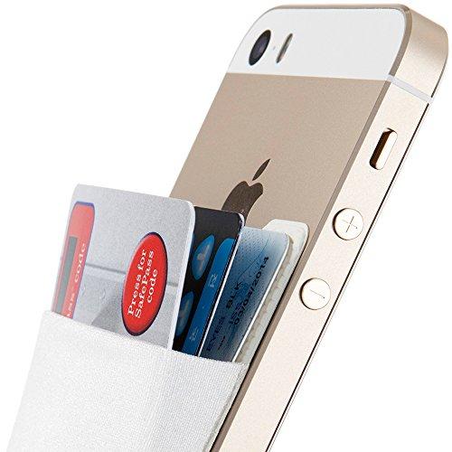 Weißen Jungen Dem Auf Band Clip (Sinjimoru Smart Wallet (aufklebbarer Kreditkartenhalter)/Smartphone Kartenhalter/Handy Geldbeutel/Mini Geldbörse/Kartenetui für iPhones und Android Smartphones. Sinji Pouch Basic 2, Weiß.)