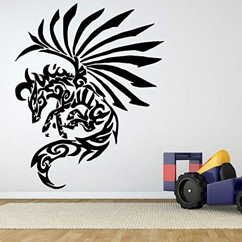 yaoxingfu Pegasus Tattoo Horse Wall Stickers for Living Room Vinyl Wallpaper Home Art Decoration Wall Decals Bedroom Poster Murals red 57X70cm