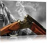 Chasse pistolet après cuisson B & W détails, Taille: 80x60 sur toile, XXL énormes photos complètement encadrée avec civière, imprimé Art mural avec cadre moins cher que la peinture ou la peinture à l'huile, pas poster ou une affiche