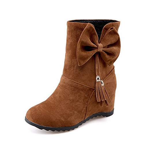 allhqfashion-womens-low-top-pull-on-frosted-kitten-heels-round-closed-toe-boots-brown-39