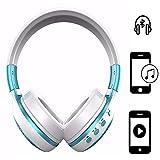 Handy Wireless Kopfhörer | für ALDI Medion Life E4506 | 3.5 mm Aux-Ausgang, eingebauten HD Mikrofon | Kabellos Stereo Headset | Kopfhörer Blau ZB19