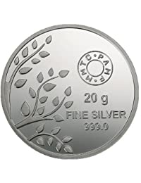 MMTC-PAMP Banyan Tree Silver(999) Coin of 20 gm with Capsule Packing
